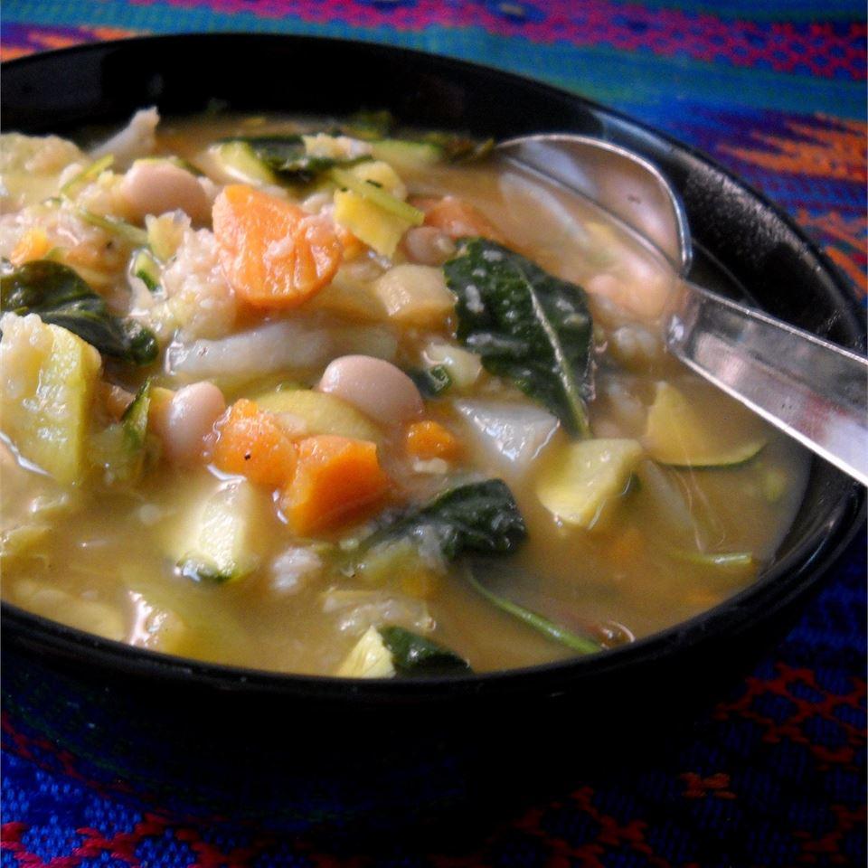 Italian Ribollita (Vegetable and Bread Soup) Linda T