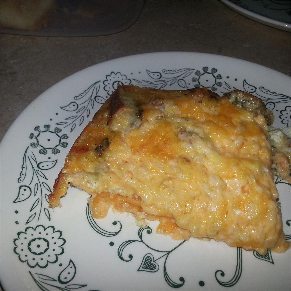 Leftover Pizza Breakfast Casserole coleebear