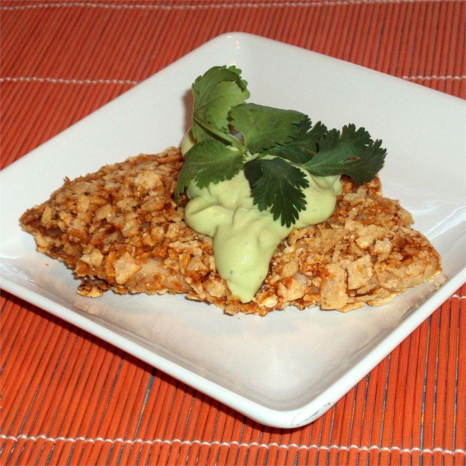 Crispy Chipotle Lime Tilapia with Cool Avocado Sauce