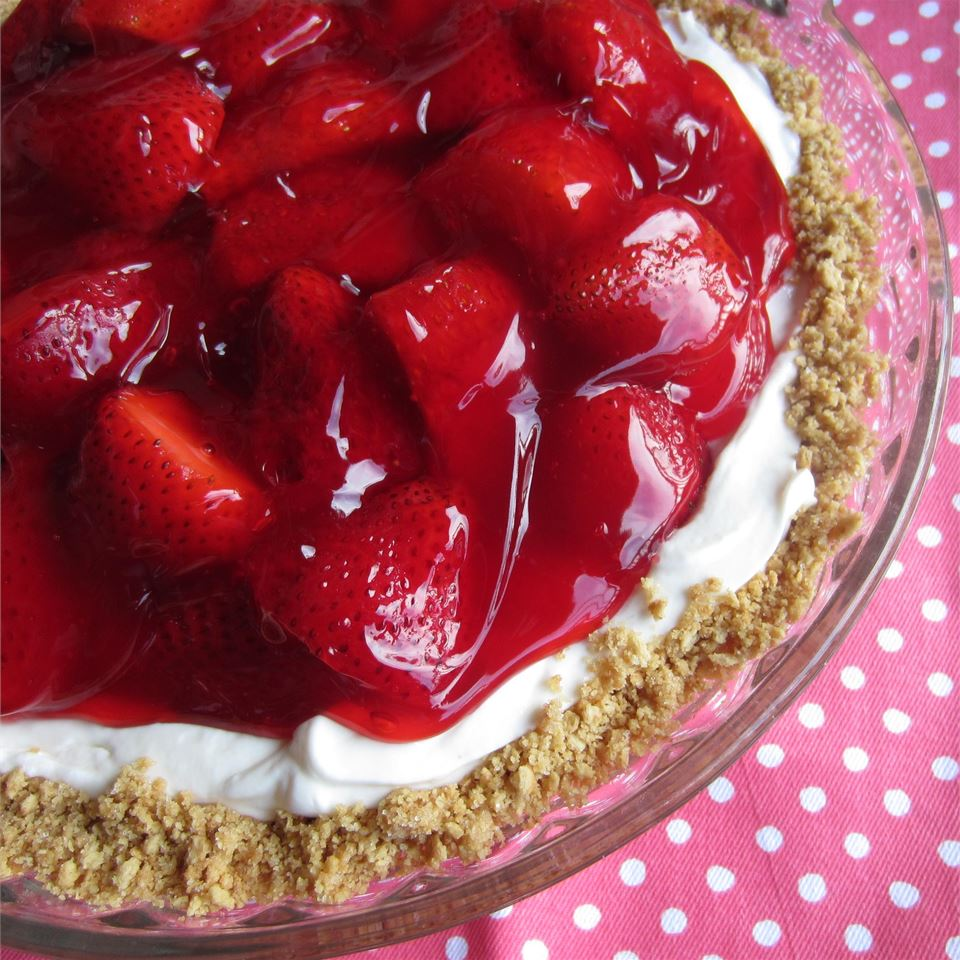 A quick 20-minute prep is all you'll need to make this gorgeous pie. Of course, that means you'll be using shortcut ingredients like a prepared graham cracker pie crust and store-bought strawberry glaze. But we won't tell if you don't.
