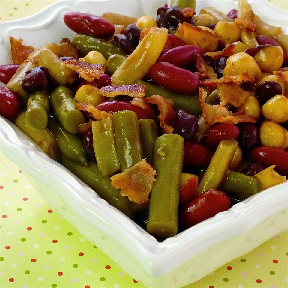 Fabulous Hot Five Bean Salad