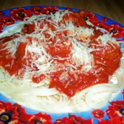 Jenn's Out Of This World Spaghetti and Meatballs