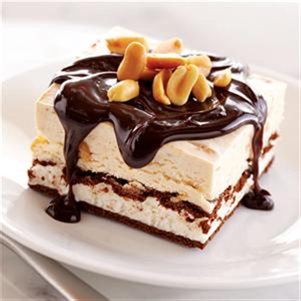 Chocolate Peanut Butter Ice Cream Sandwich Dessert