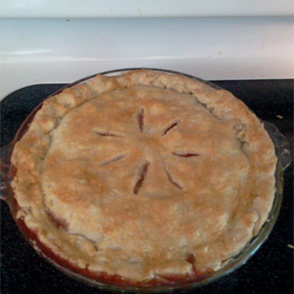 Nicki's Summer Strawberry Rhubarb Pie melissawood111