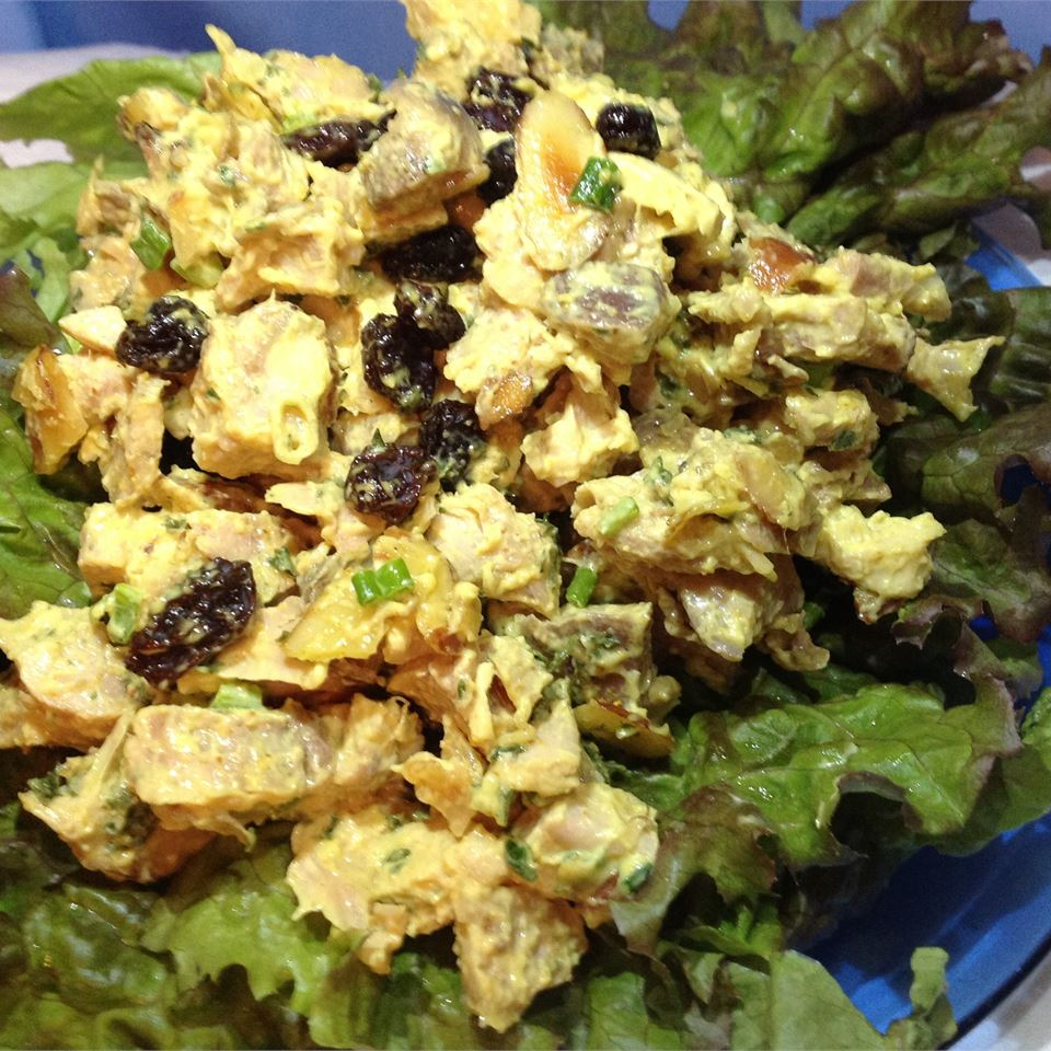 Curry Chicken Salad with Grapes