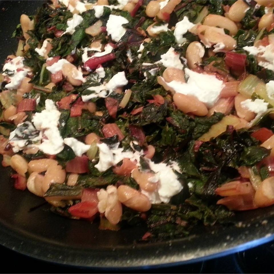 Swiss Chard with Pinto Beans and Goat Cheese rxspo
