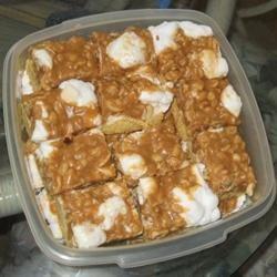 Peanut Candy Bar Cake bakingaddict
