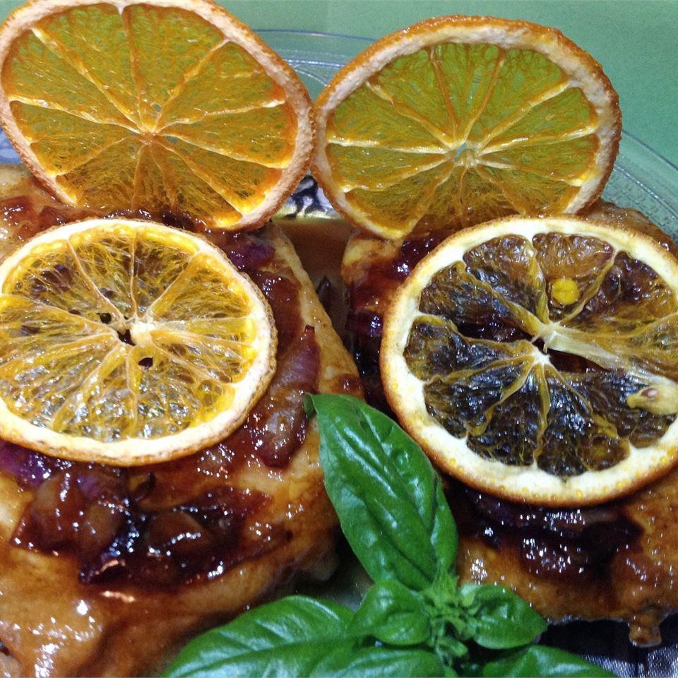 Orange Shallot Marsala Pork Chops