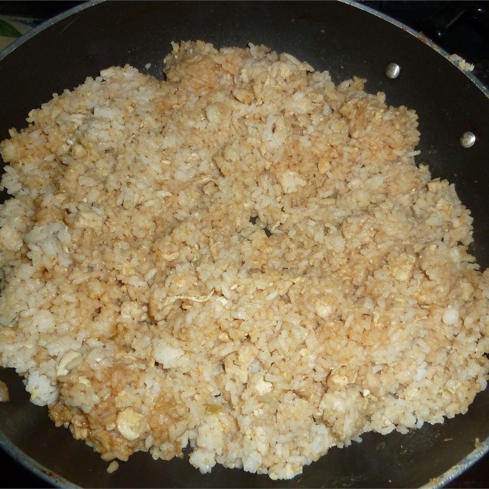 Roasted Garlic Teriyaki Fried Rice with Chicken Megan Buchholz