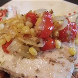 Rosemary Marlin with Roasted Corn and Tomato Relish user