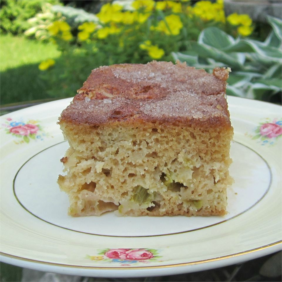 Rhubarb Stir Cake Deb C