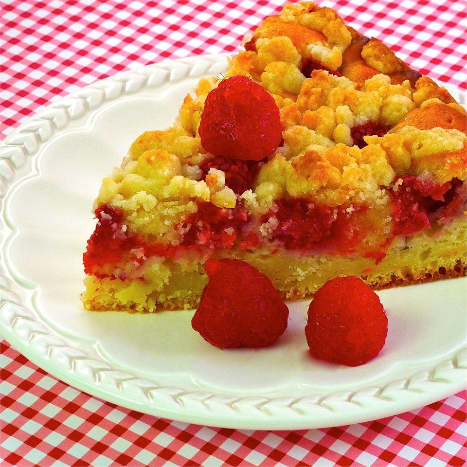 Raspberry-Sour Cream Crumb Cake lutzflcat