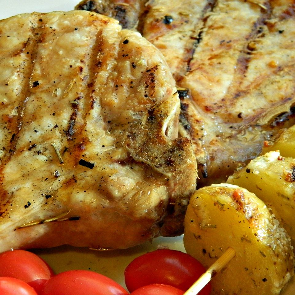 Grilled Brown Sugar Pork Chops