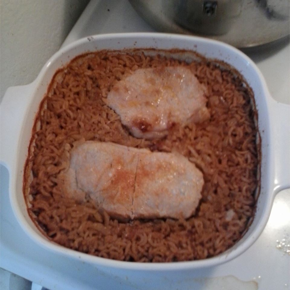 Pork Chops and Dirty Rice cookingeddy