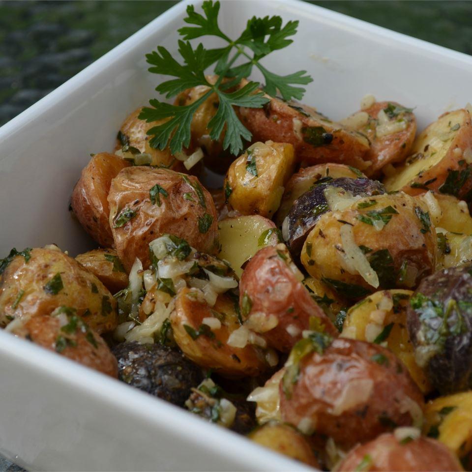 Roasted New Potato Salad With Olives