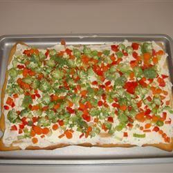 Garden Veggie Pizza Squares Gianna Rose Allen
