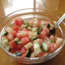 Cucumber-Watermelon Salad RHOV