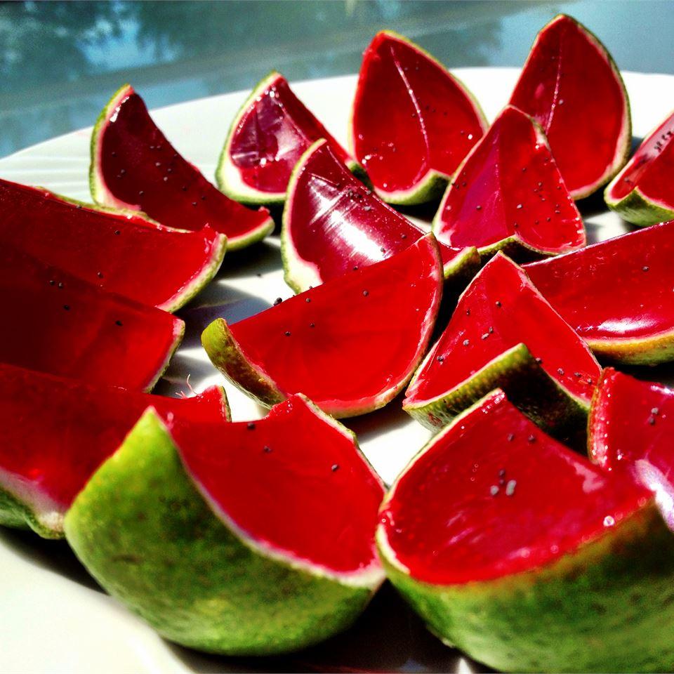 Sliced Watermelon Jell-O® Shots Sabrina
