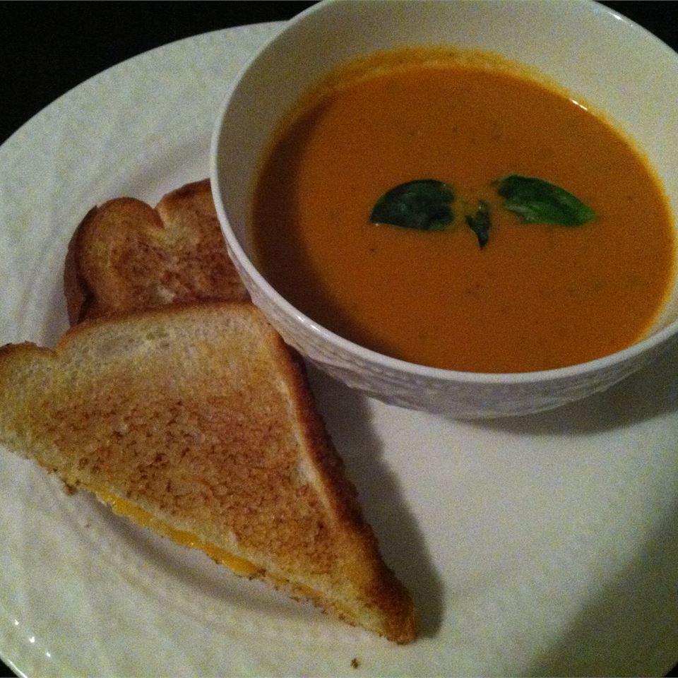 Creamy Tomato-Basil Soup Freckles
