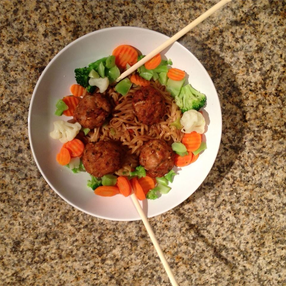 Deep-Fried Asian Chicken Meatballs