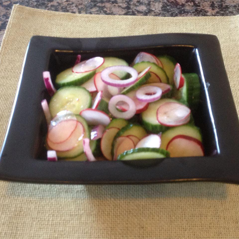 Simple Cucumber and Radish Salad Volleyballmom