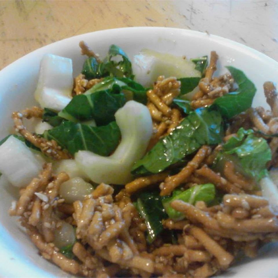 Bok Choy Salad with Chow Mein