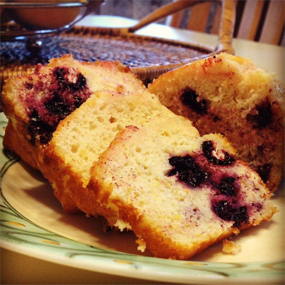 Lemon-Black Raspberry Bread