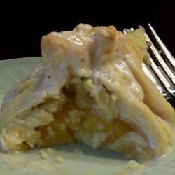 Fresh Peach Dumplings Served with Hard Sauce Pam Ziegler Lutz