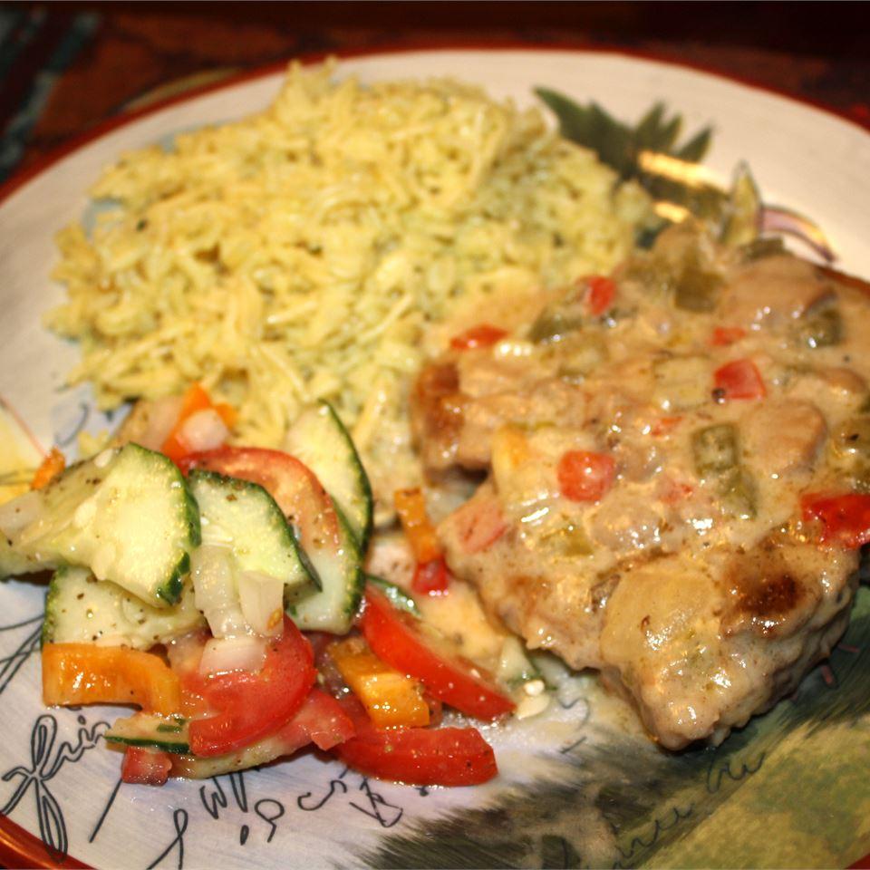 Smothered Pork Chops from Birds Eye® Janet Henderson