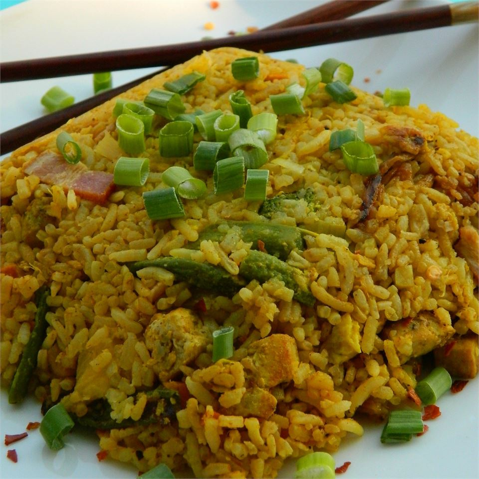 Thai Fried Rice with Pineapple and Chicken