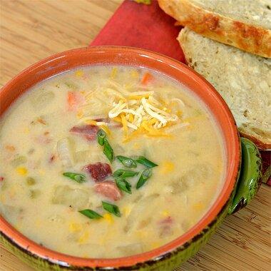 easy and delicious ham and potato soup recipe