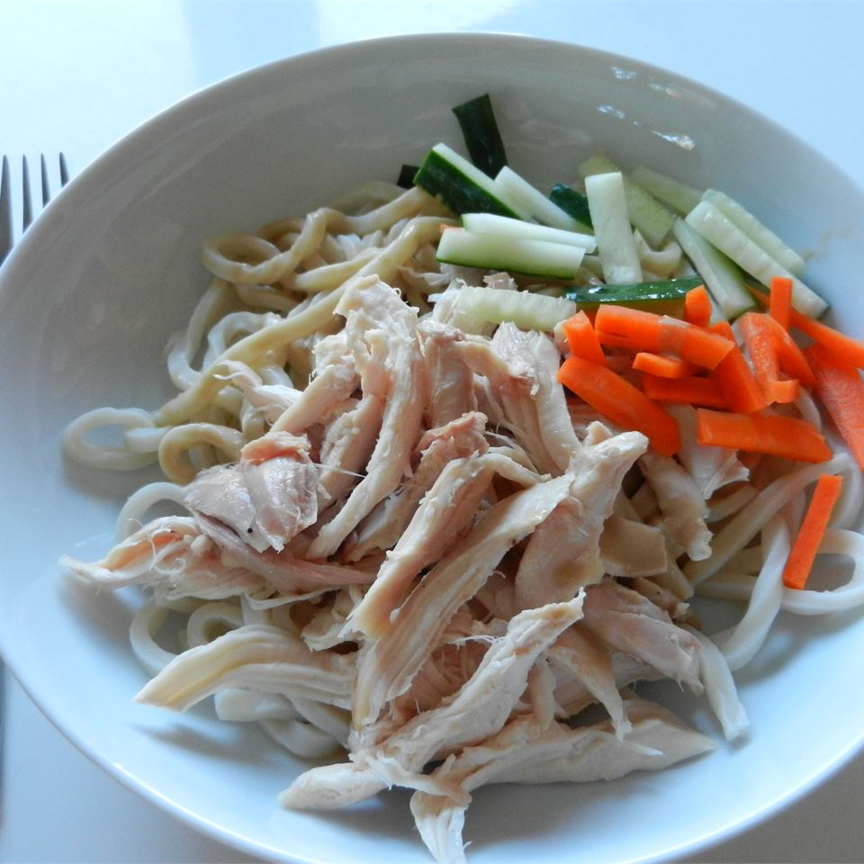 Chicken and Cold Noodles with Spicy Sauce Ann