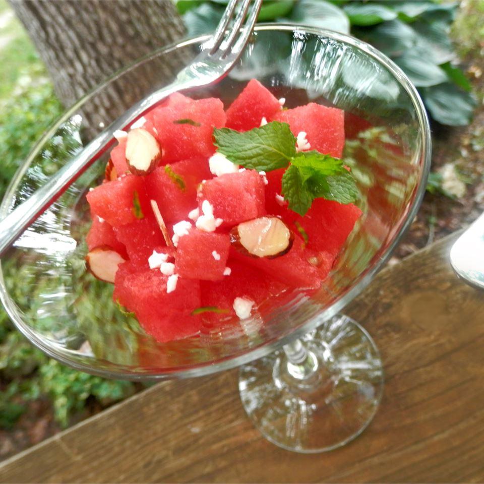 Watermelon, Almond, Feta and Mint Salad Mixit