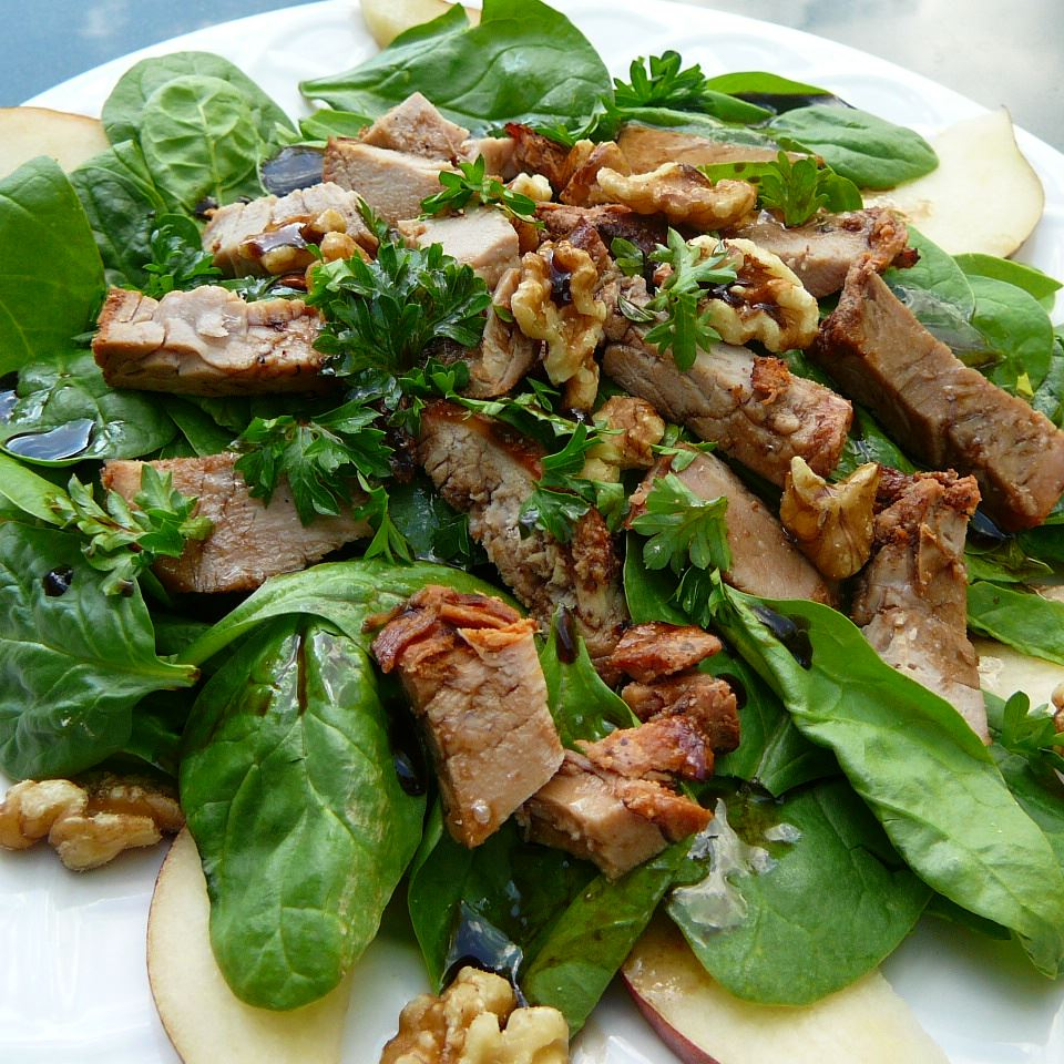 Pork, Pear and Walnut Salad mwmaleski