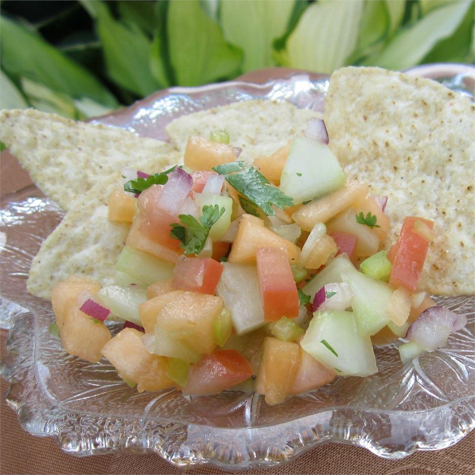 Cucumber Melon Salsa Deb C
