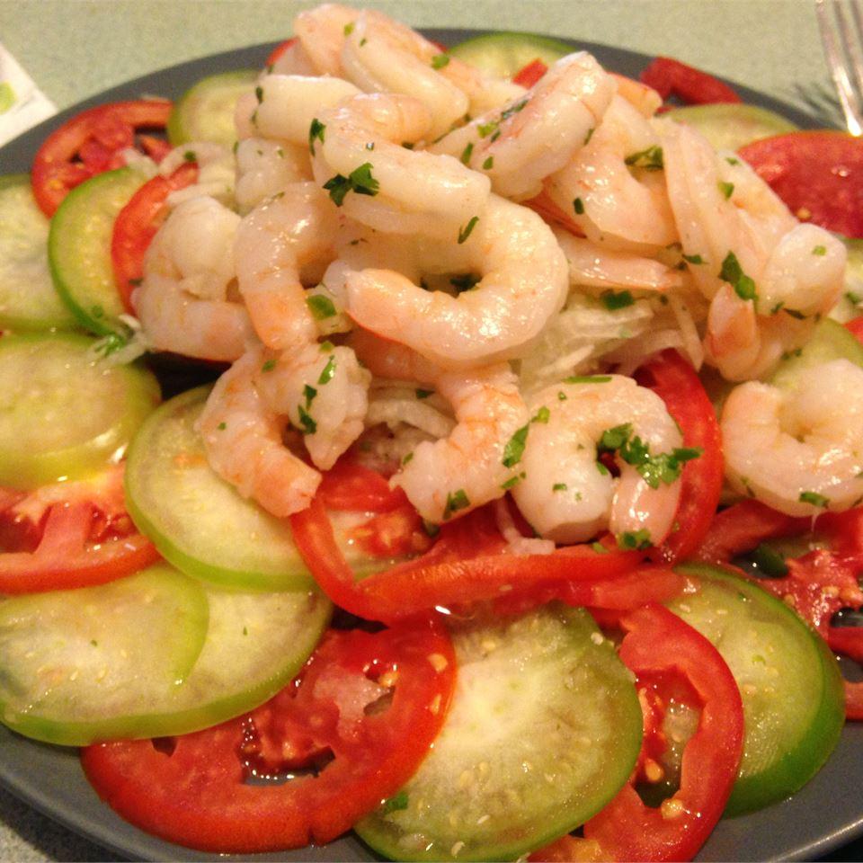 Shrimp, Jicama and Chile Vinegar Salad Pondman