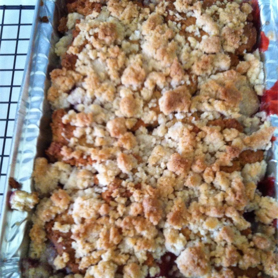 Strawberry Rhubarb Coffee Cake Carla Martz Cooley