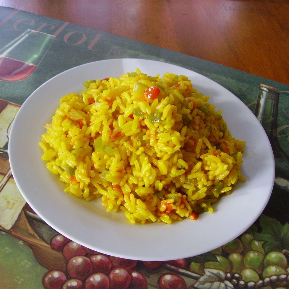 Cheesy Chicken and Yellow Rice