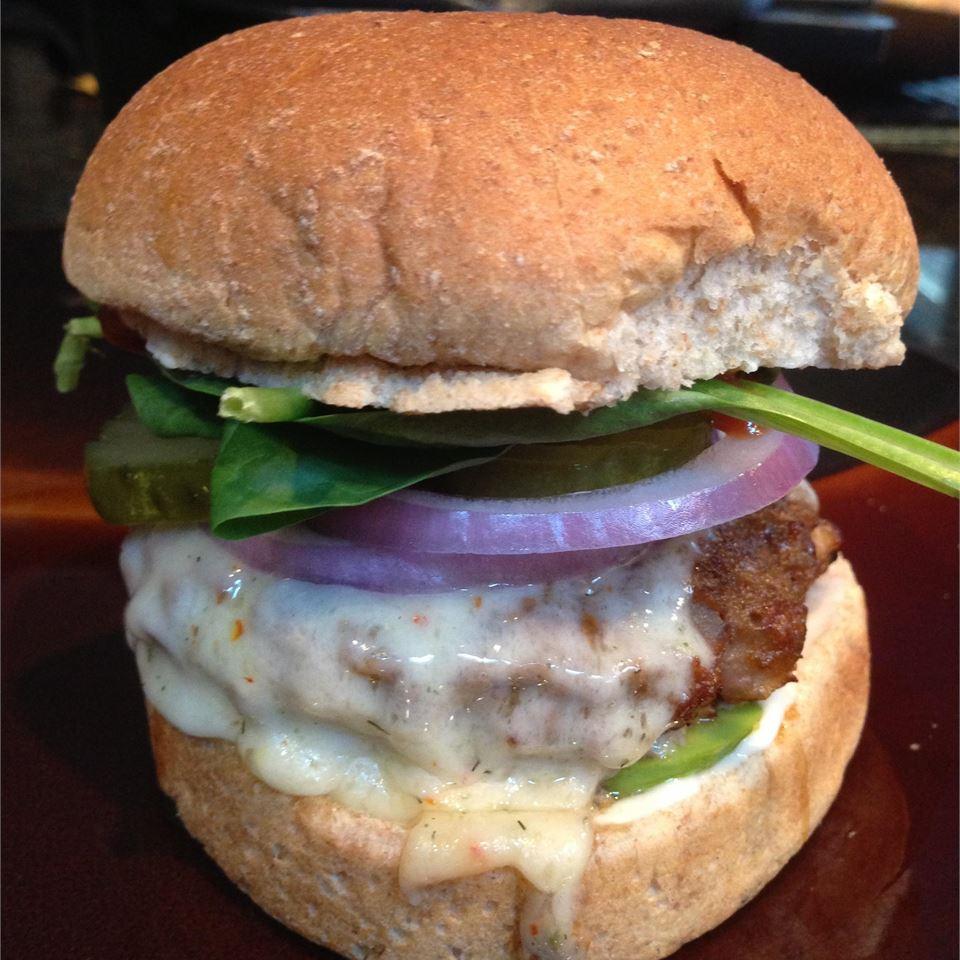 Onion and Cheddar Burgers megan