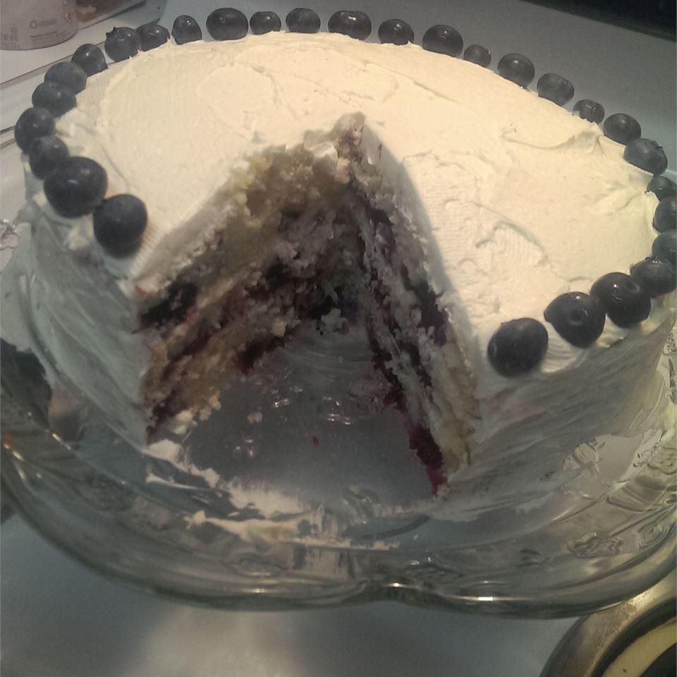 Blueberry Lemon Cake with Buttercream Frosting KDReese23