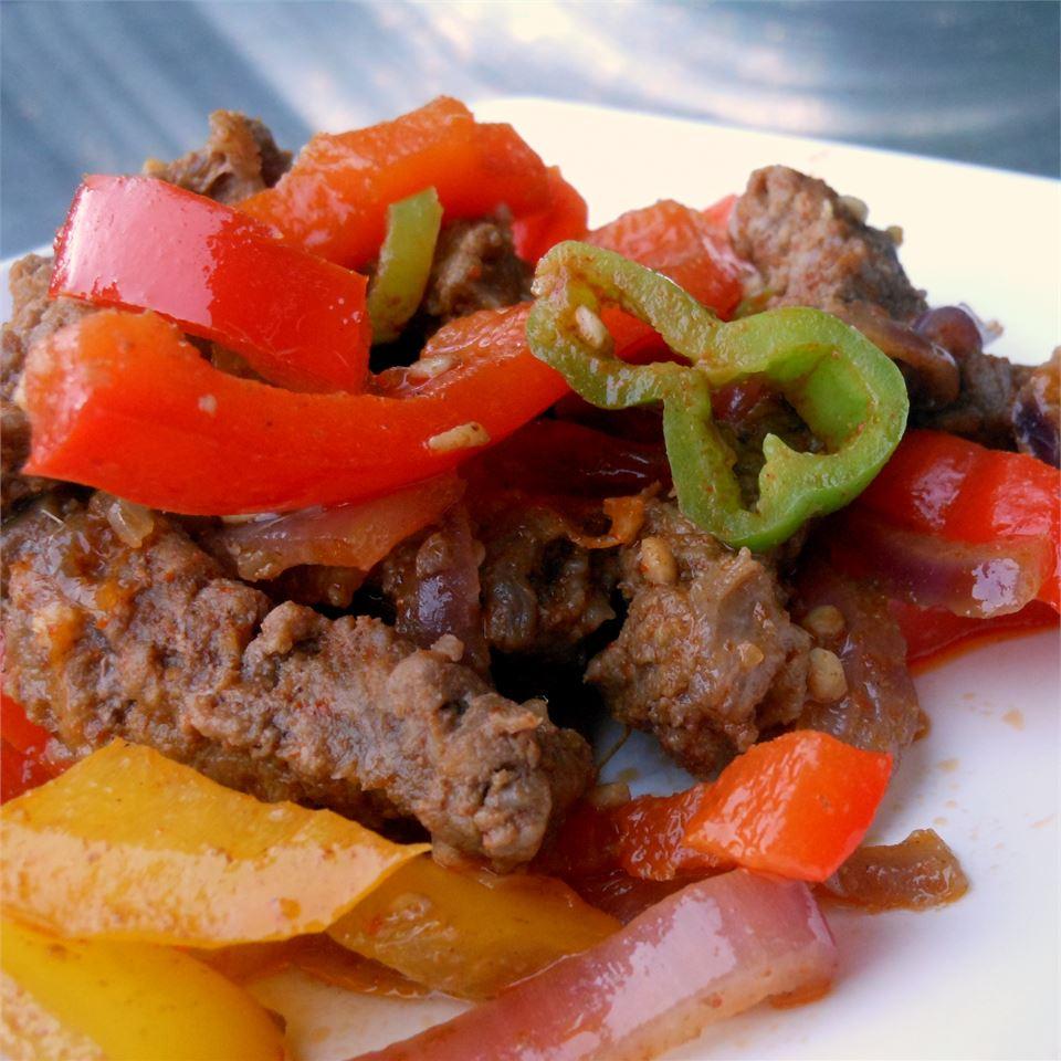 Spicy Beef Fajitas