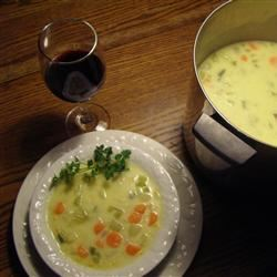 Cheesy Vegetable Chowder Taran