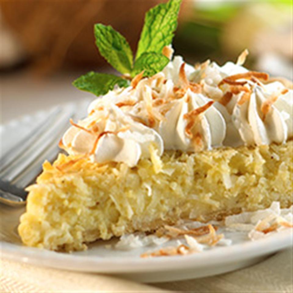 Coconut Cream Custard Pie