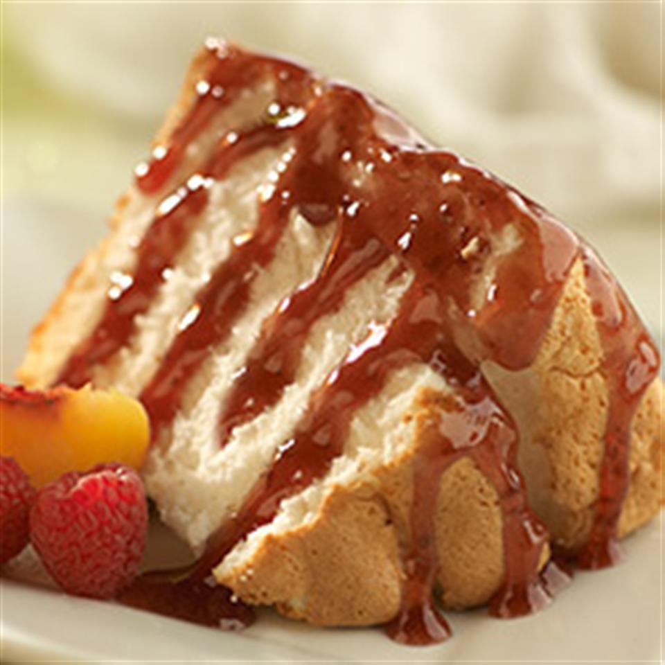 Easy Peach-Raspberry Dessert Topping