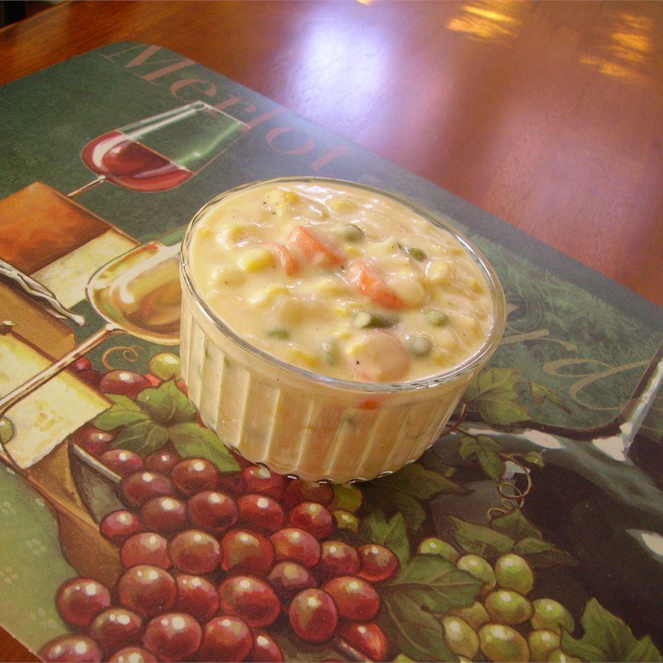 Vegetable Cheesy Soup Christina