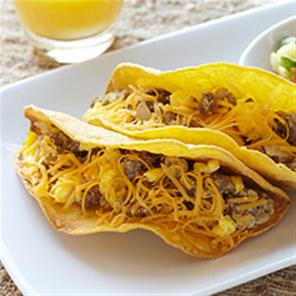 Ground Bison Breakfast Tacos with Pineapple Salsa