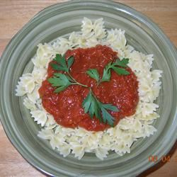 Bow-Tie Pasta With Red Pepper Sauce