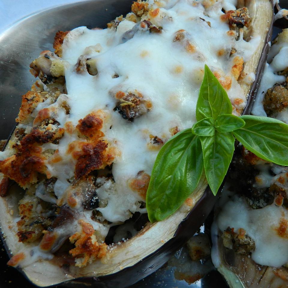 Eggplant With Mushroom Stuffing mauigirl