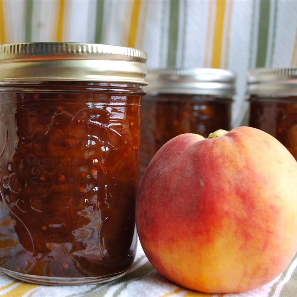 """Peaches and preserved ginger combine with raisins, garlic, onion, chili powder, mustard seed, curry powder, brown sugar and cider vinegar. """"This chutney closely resembles imported Indian chutneys and is good with all curry dishes,"""" says Shana. """"It is also great with cream cheese and crackers."""""""