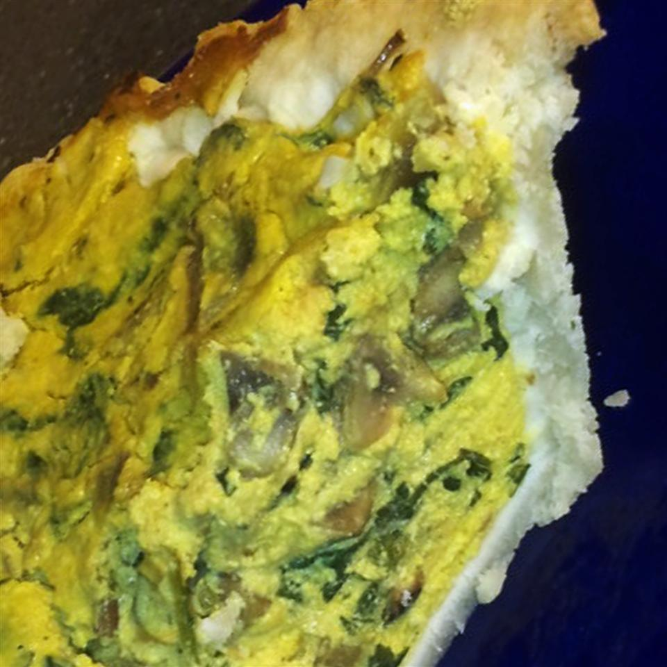 "Kale and Mushroom Vegan ""Quiche"""
